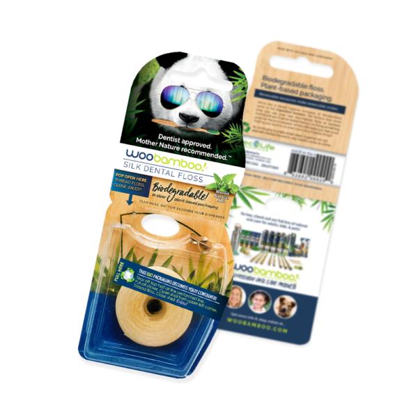 WooBamboo Biodegradable Silk Dental Floss