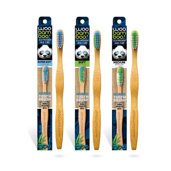 WooBamboo Signature Bamboo Toothbrush Adult Zero Waste Packaging