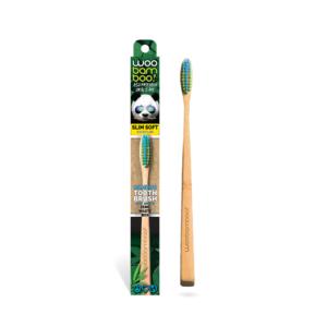 WooBamboo Slim Handle Zero Waste Packaged Bamboo Toothbrush